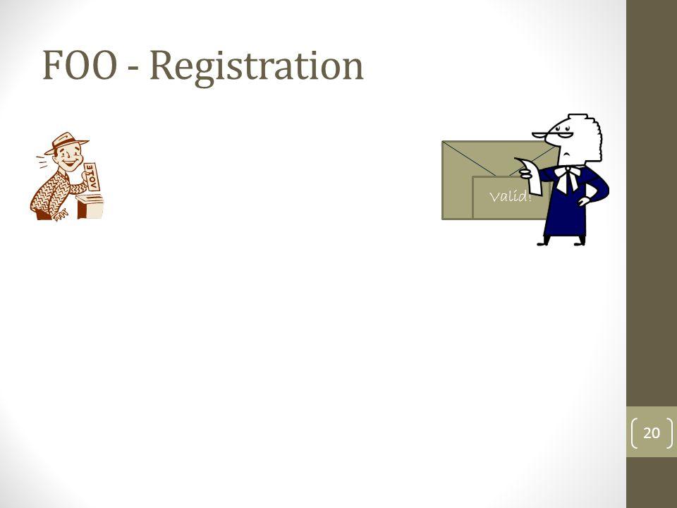 FOO - Registration Valid!