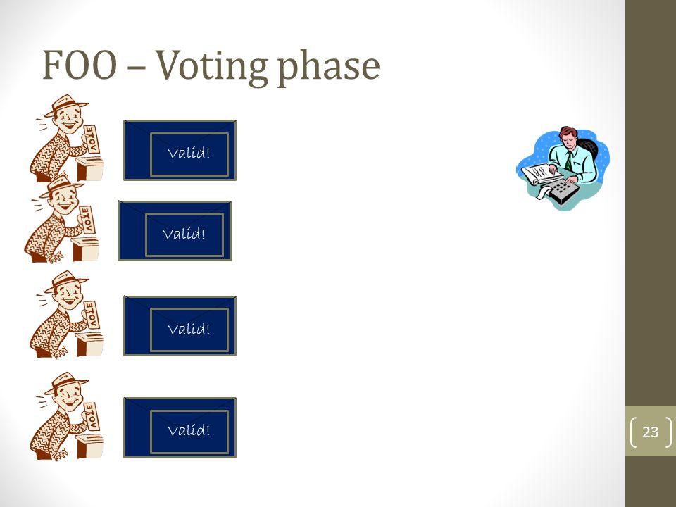 FOO – Voting phase Valid! Valid! Valid! Valid!