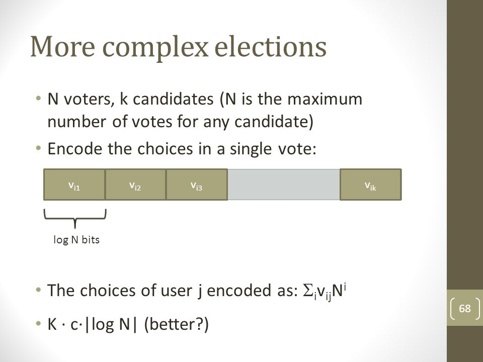 More complex elections