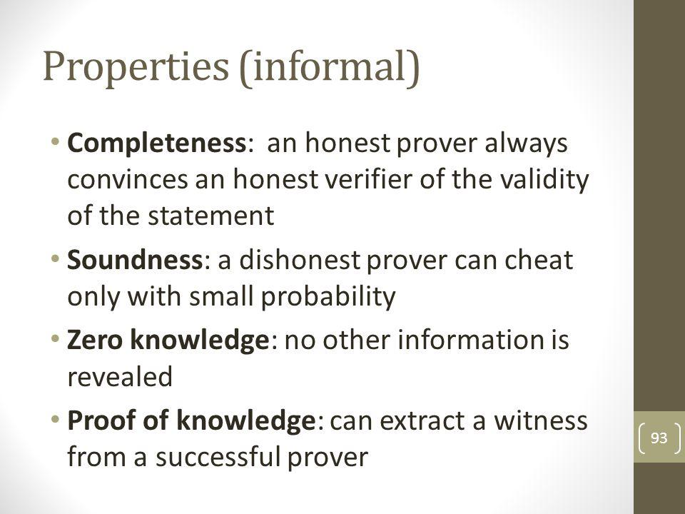 Properties (informal)
