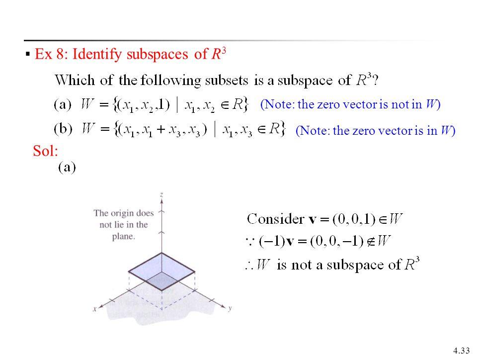 Ex 8: Identify subspaces of R3