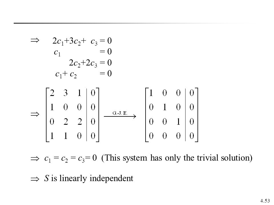 how to find system is linearly dependent or independent