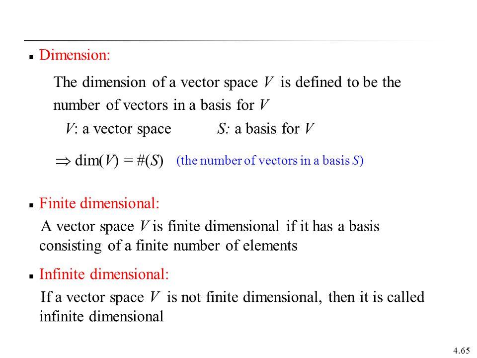 Infinite dimensional:
