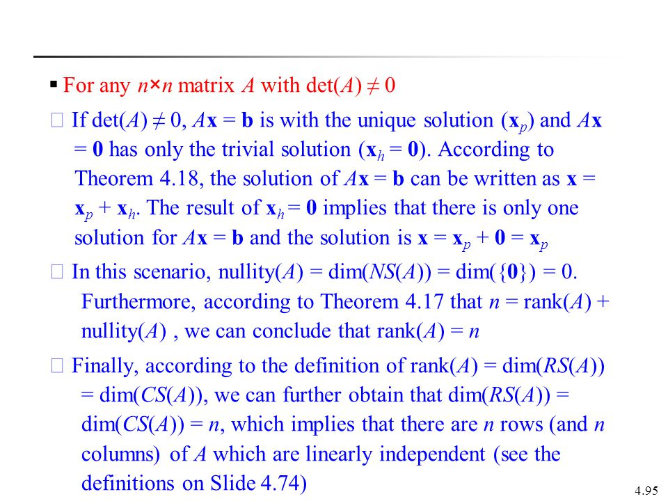 For any n×n matrix A with det(A) ≠ 0