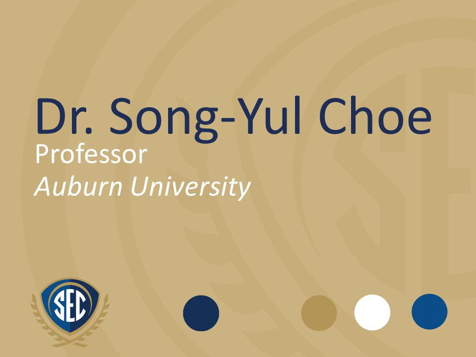 Dr. Song-Yul Choe Professor Auburn University