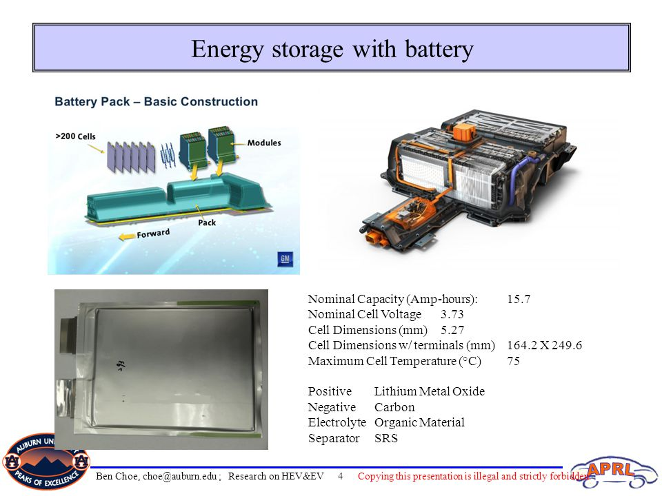 Energy storage with battery