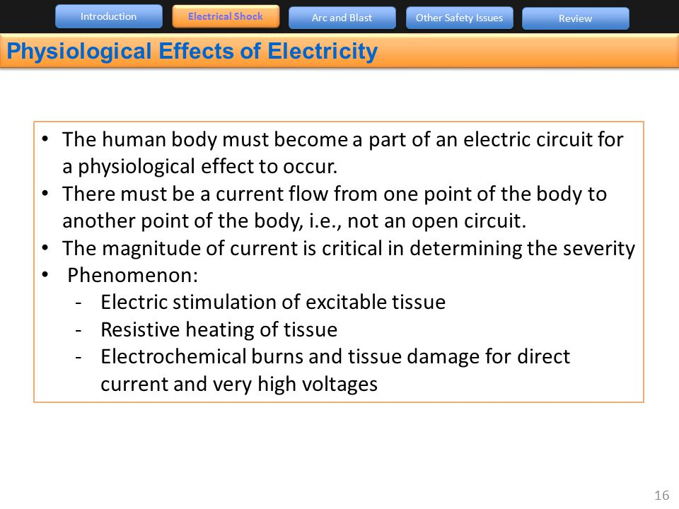 Physiological Effects of Electricity