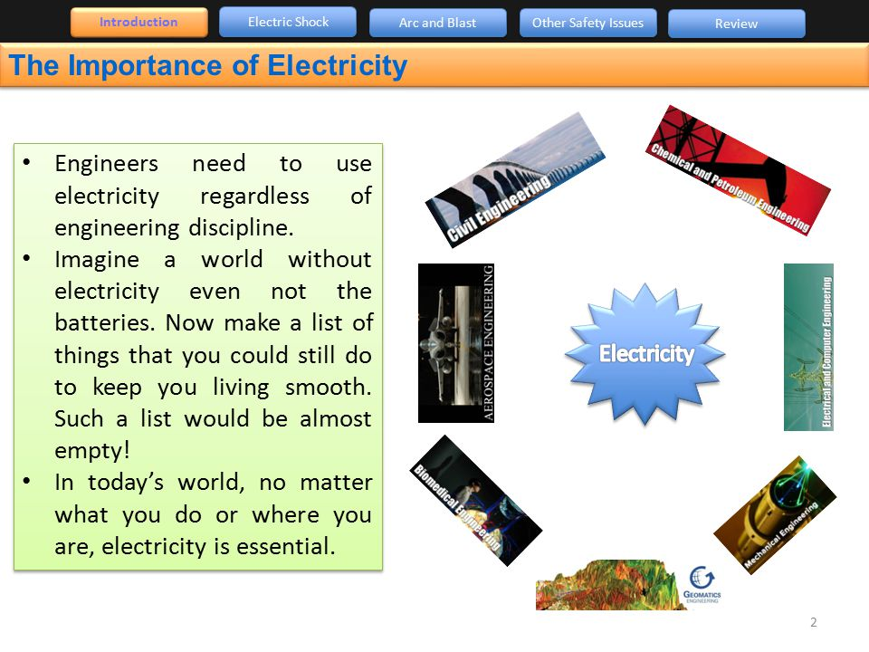 the importance of electrical energy The importance of energy to economic growth december 5th, 2007 no comments a brief review of history and in particular the industrial revolution, it's quite apparent that economic growth is inextricably linked to energy.