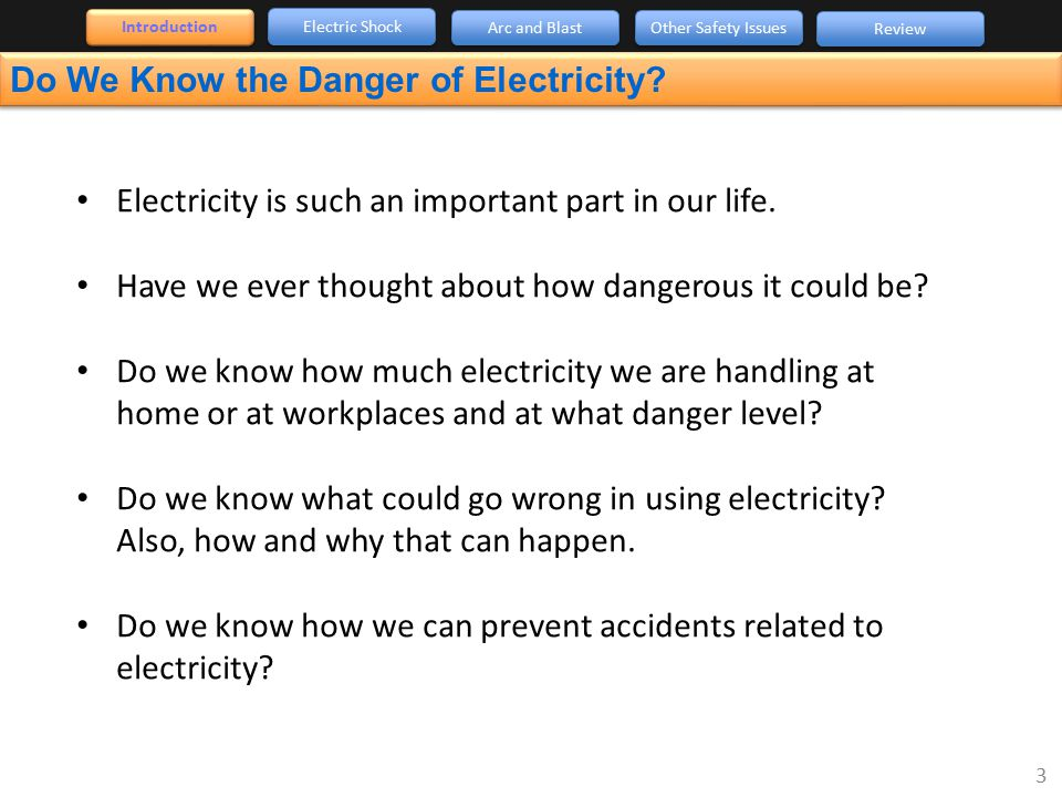 Do We Know the Danger of Electricity