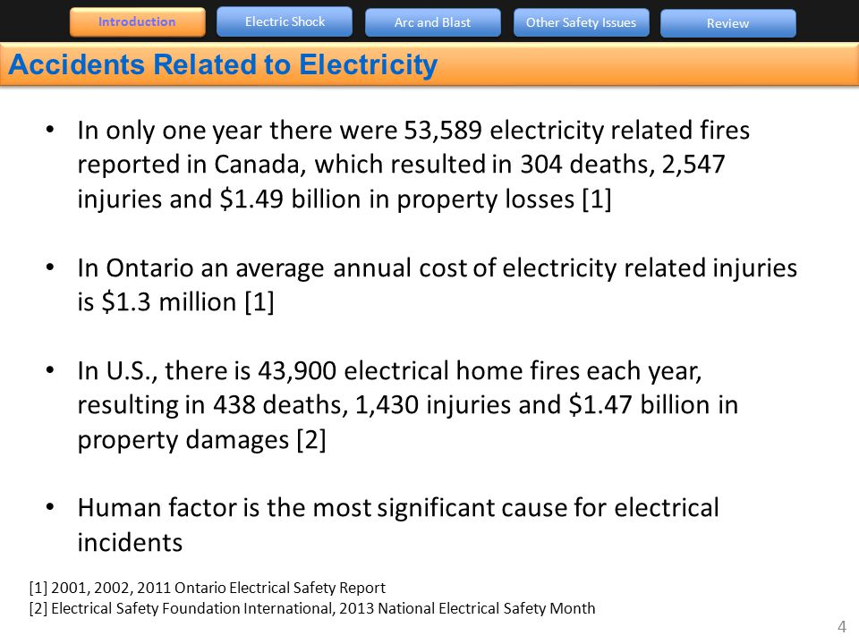 Accidents Related to Electricity