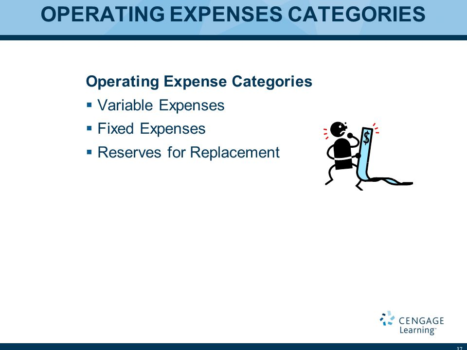 OPERATING EXPENSES CATEGORIES