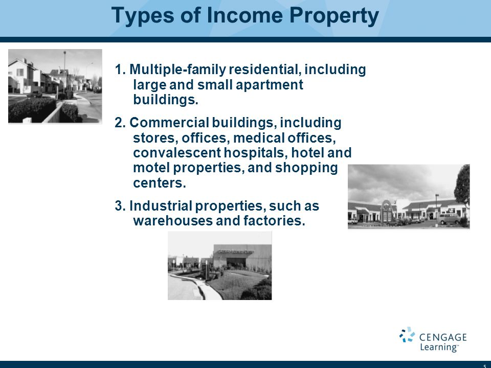 Types of Income Property