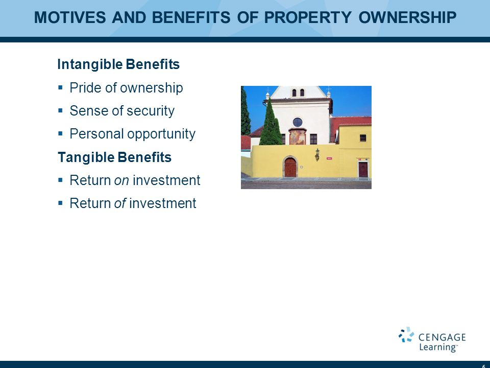 MOTIVES AND BENEFITS OF PROPERTY OWNERSHIP