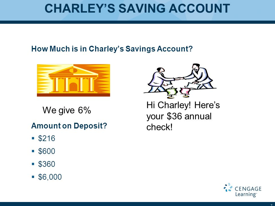 CHARLEY'S SAVING ACCOUNT