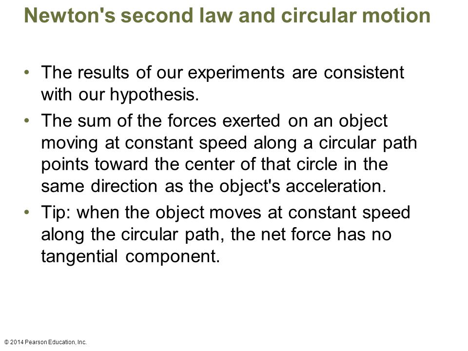 Newton s second law and circular motion