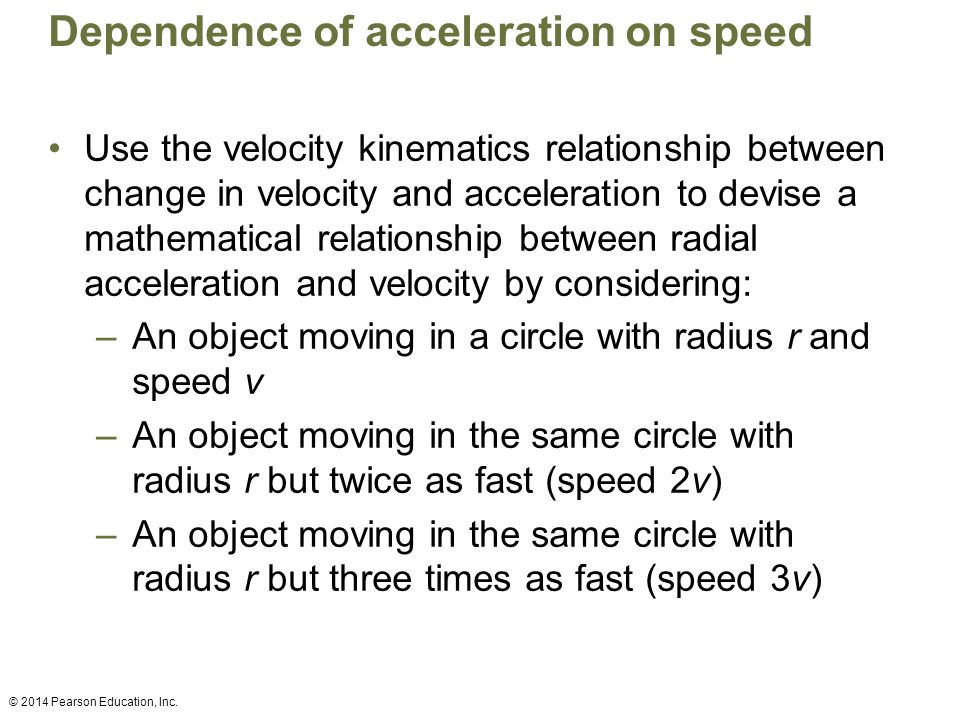 Dependence of acceleration on speed