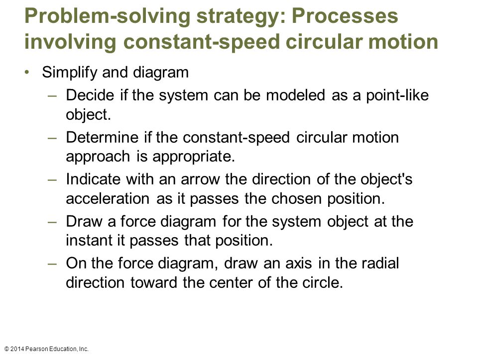 Problem-solving strategy: Processes involving constant-speed circular motion