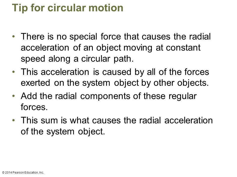 Tip for circular motion