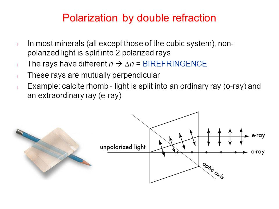 Polarization by double refraction
