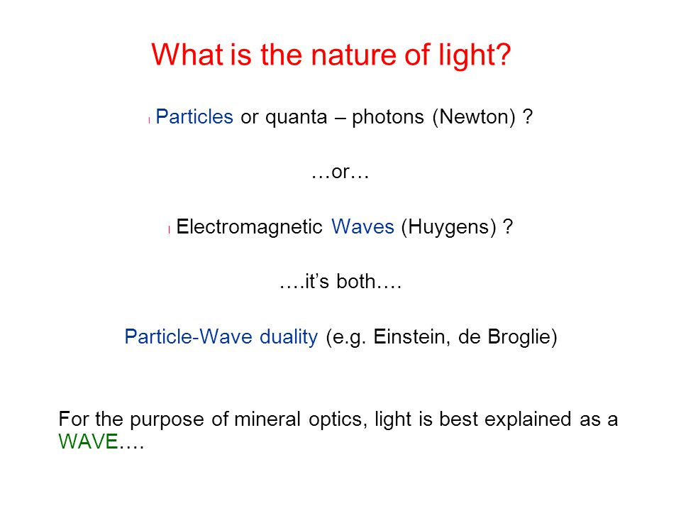 What is the nature of light