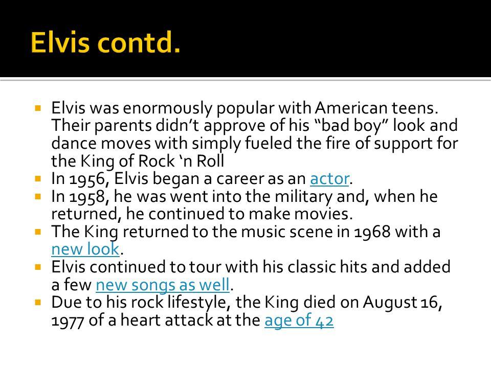 Elvis contd.