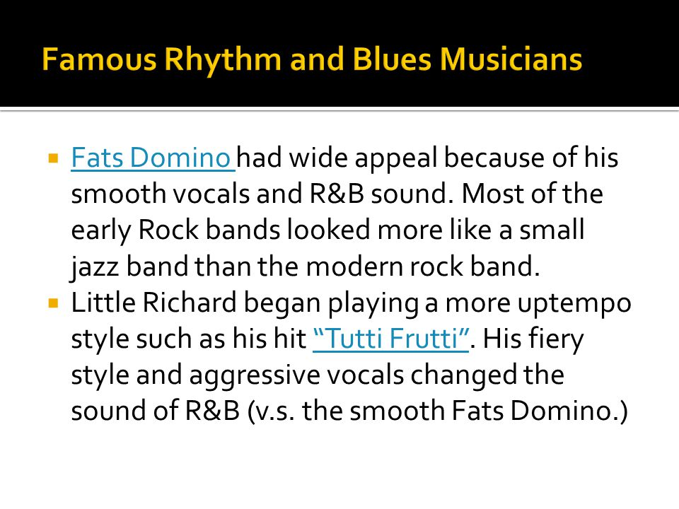 Famous Rhythm and Blues Musicians