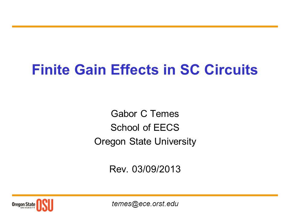 Finite Gain Effects in SC Circuits