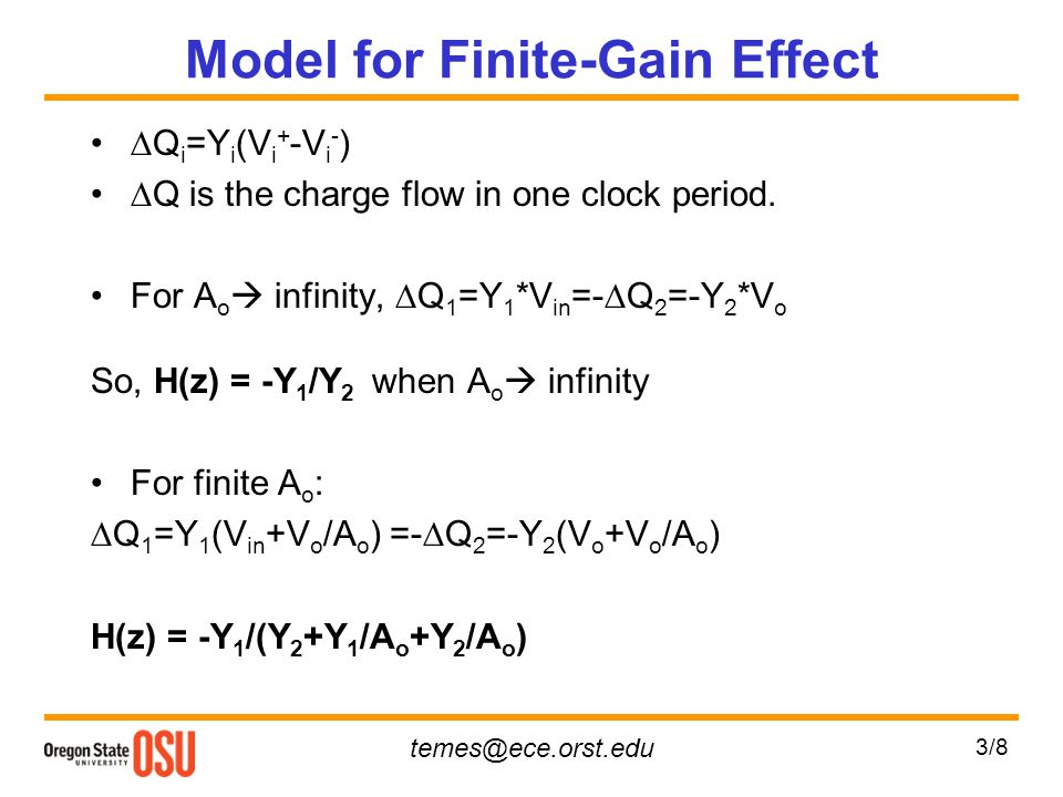 Model for Finite-Gain Effect