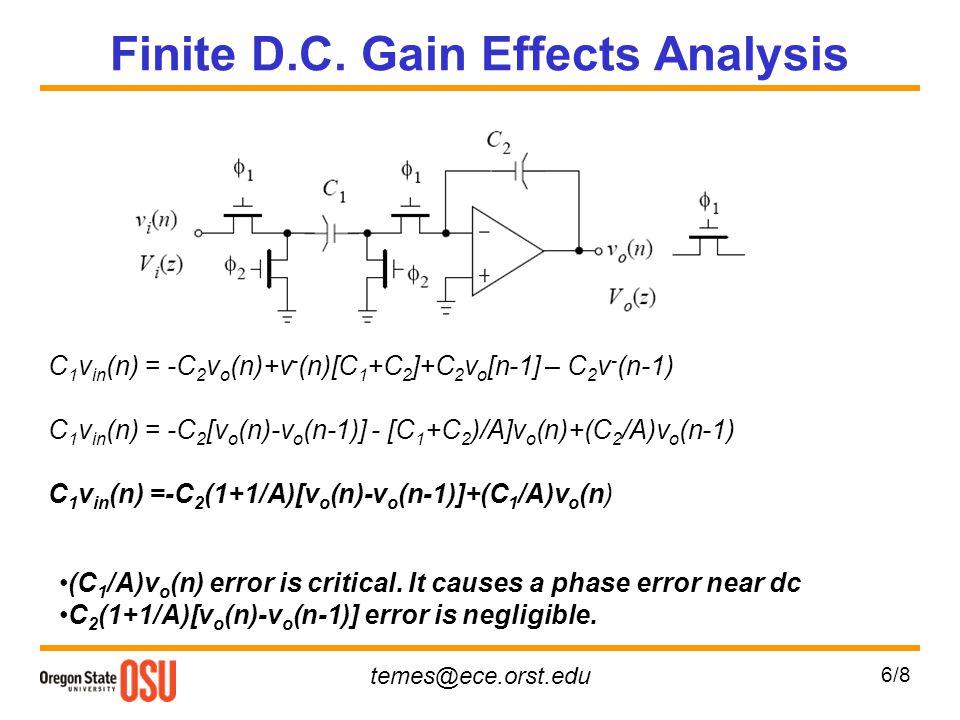 Finite D.C. Gain Effects Analysis