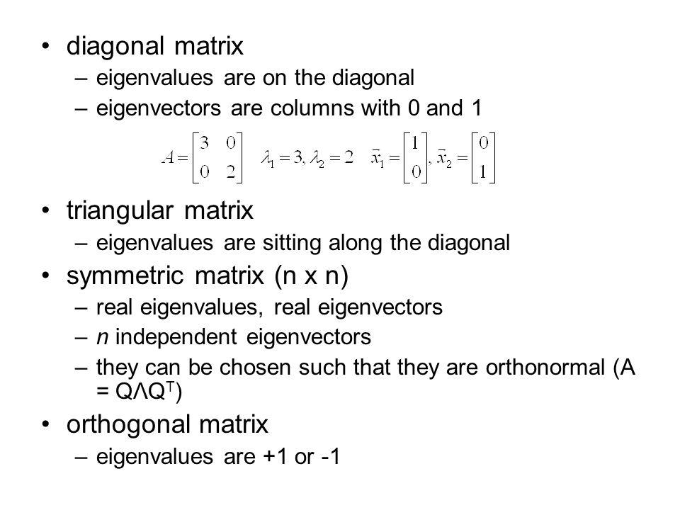 symmetric matrix (n x n)