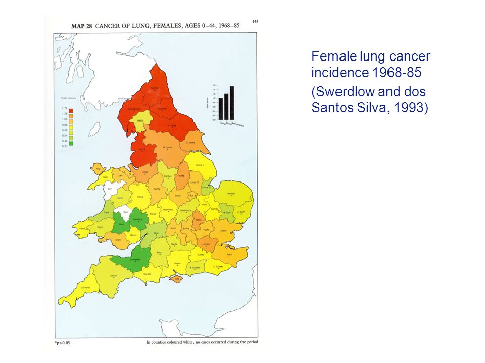 Female lung cancer incidence 1968-85