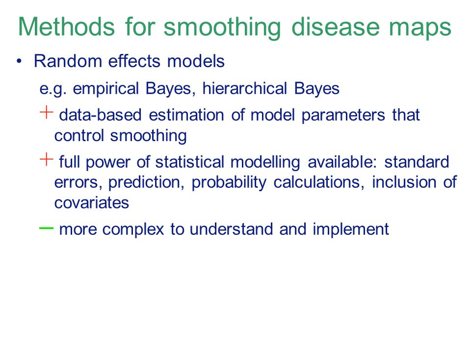 Methods for smoothing disease maps