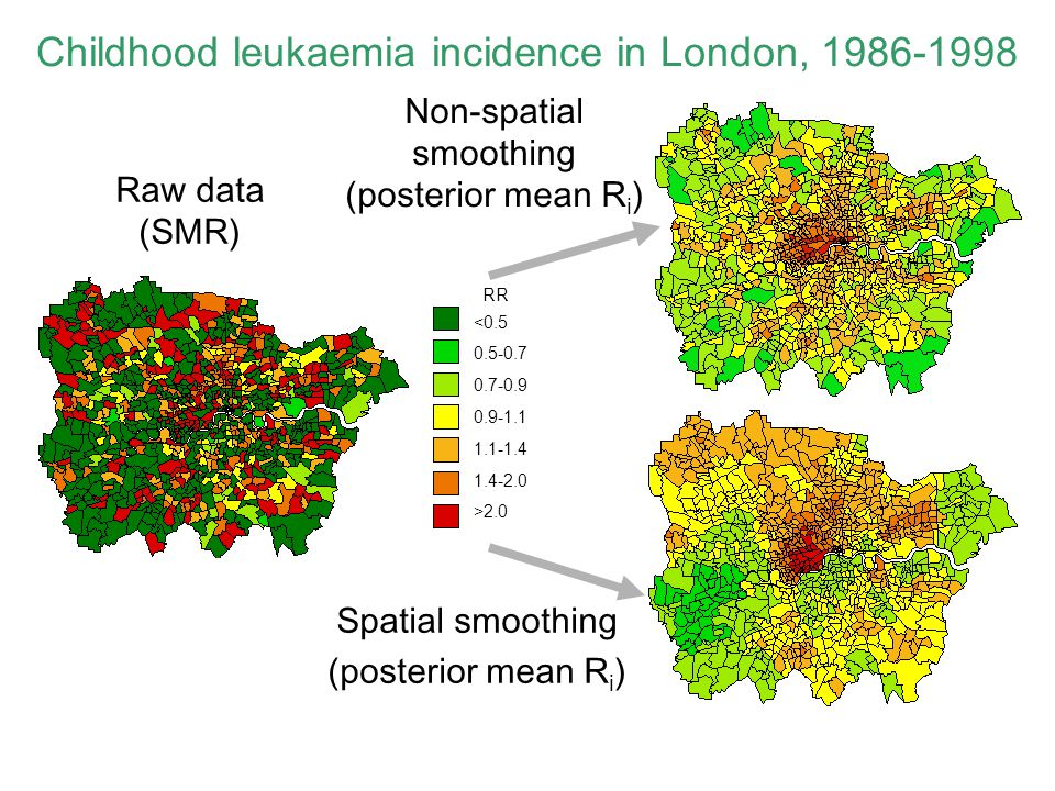 Childhood leukaemia incidence in London, 1986-1998