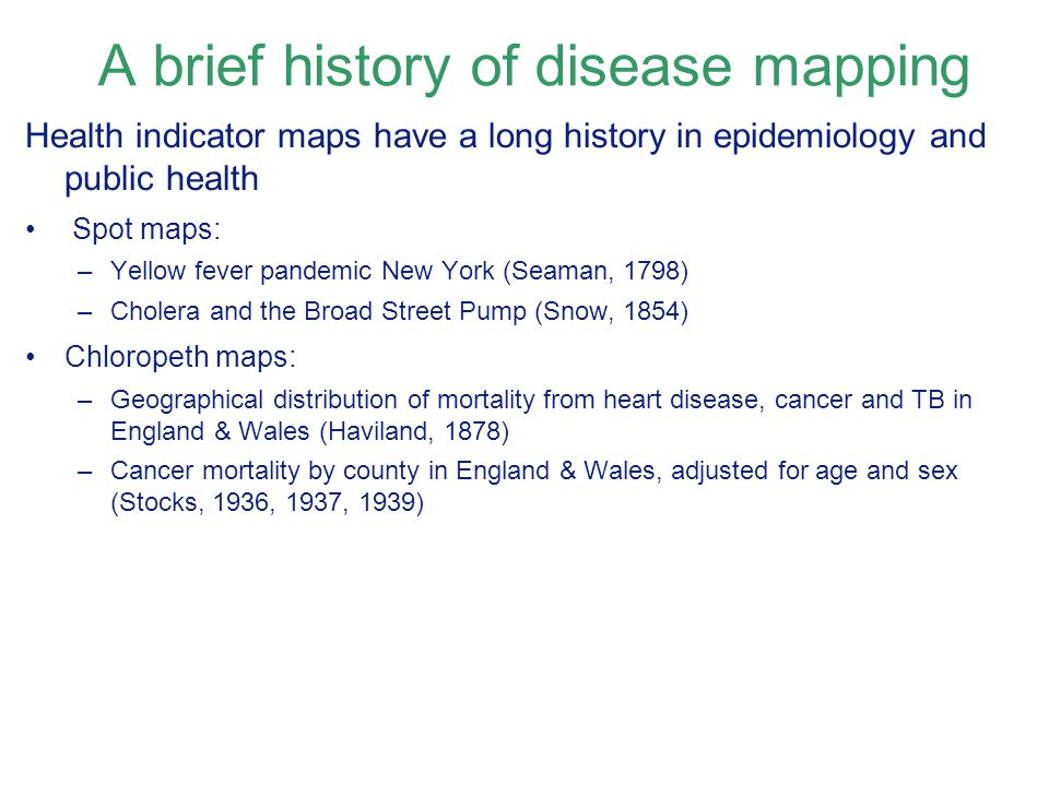 A brief history of disease mapping