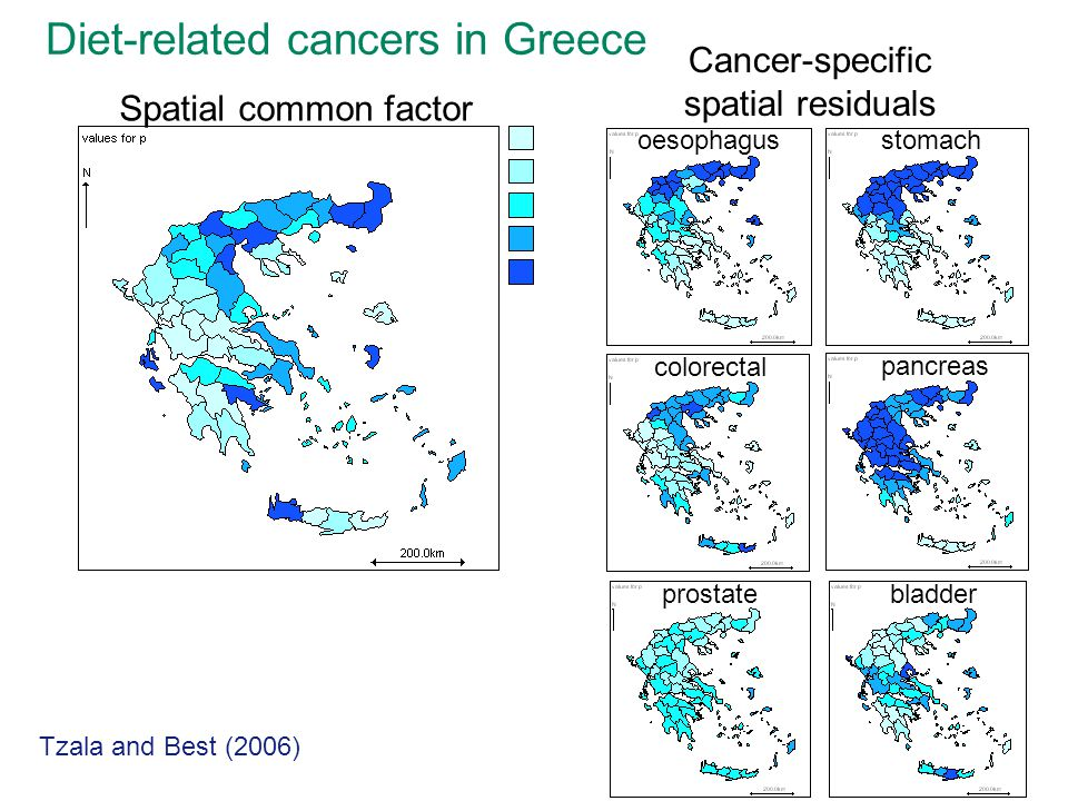 Cancer-specific spatial residuals