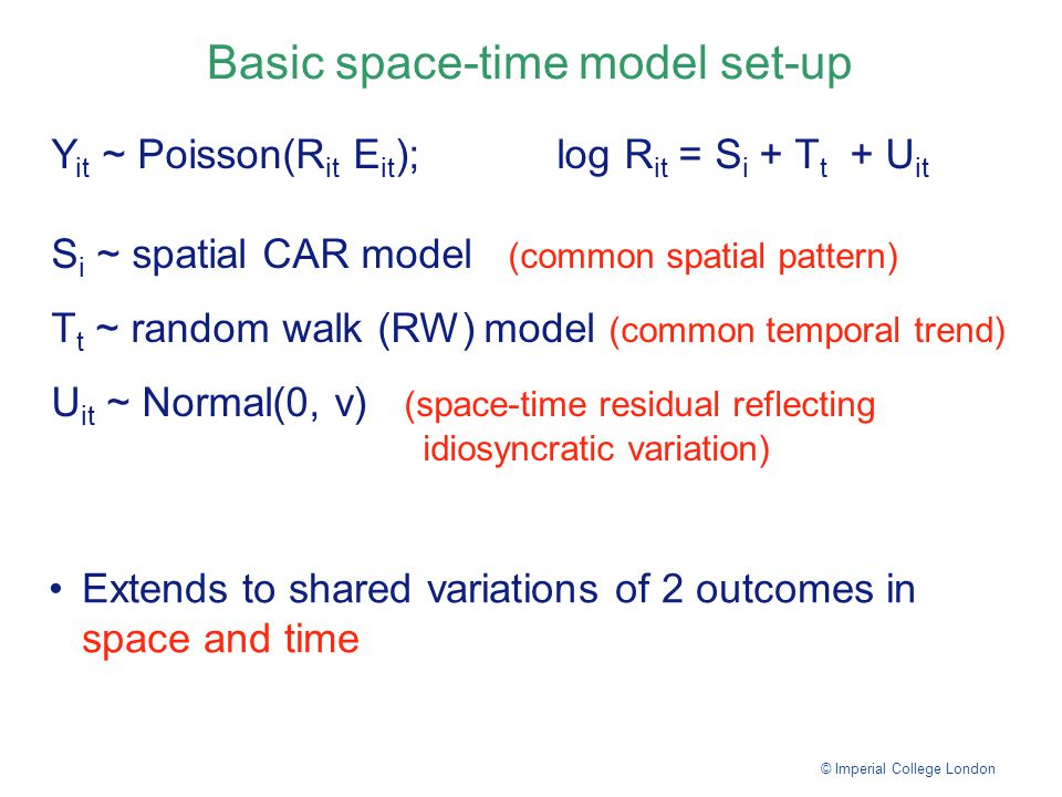 Basic space-time model set-up