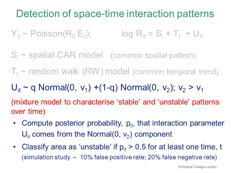 Detection of space-time interaction patterns