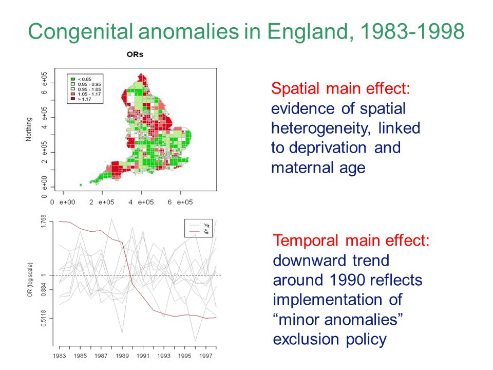Congenital anomalies in England, 1983-1998