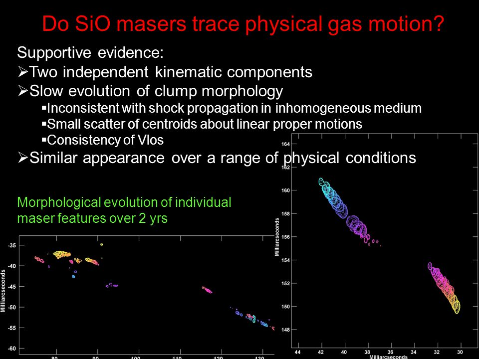 Do SiO masers trace physical gas motion