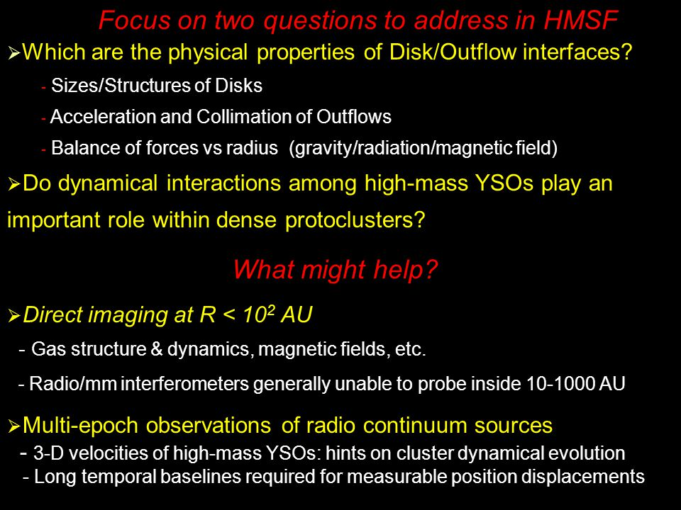 Focus on two questions to address in HMSF