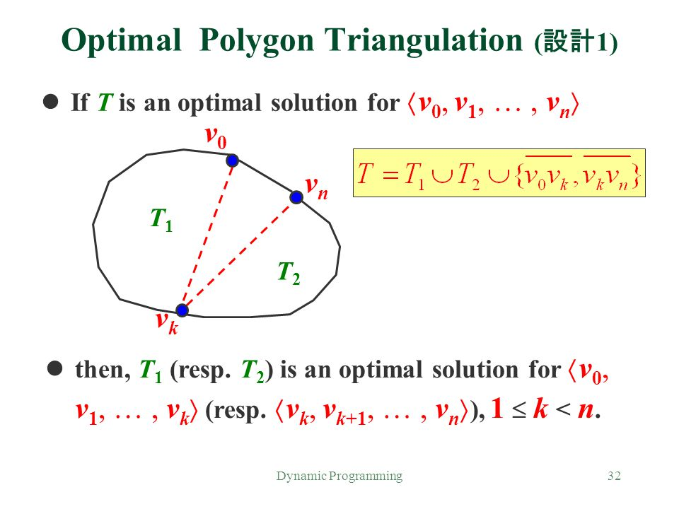 Optimal Polygon Triangulation (設計1)