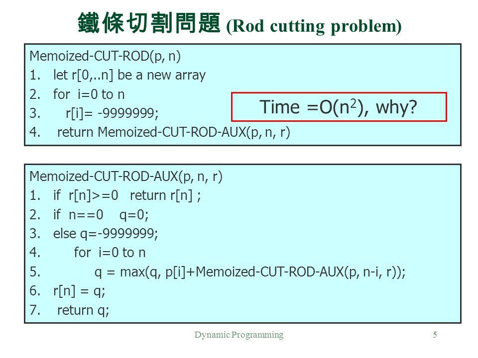 鐵條切割問題 (Rod cutting problem)
