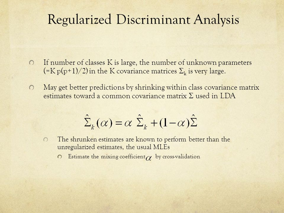 Regularized Discriminant Analysis