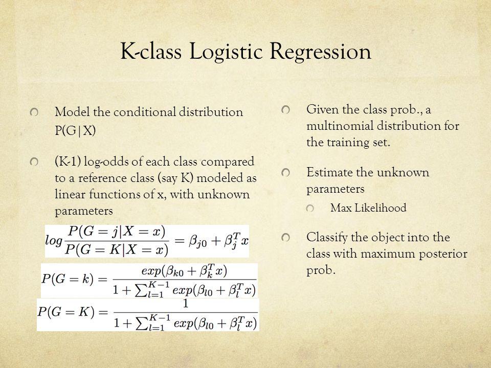 K-class Logistic Regression
