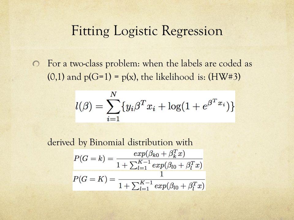 Fitting Logistic Regression
