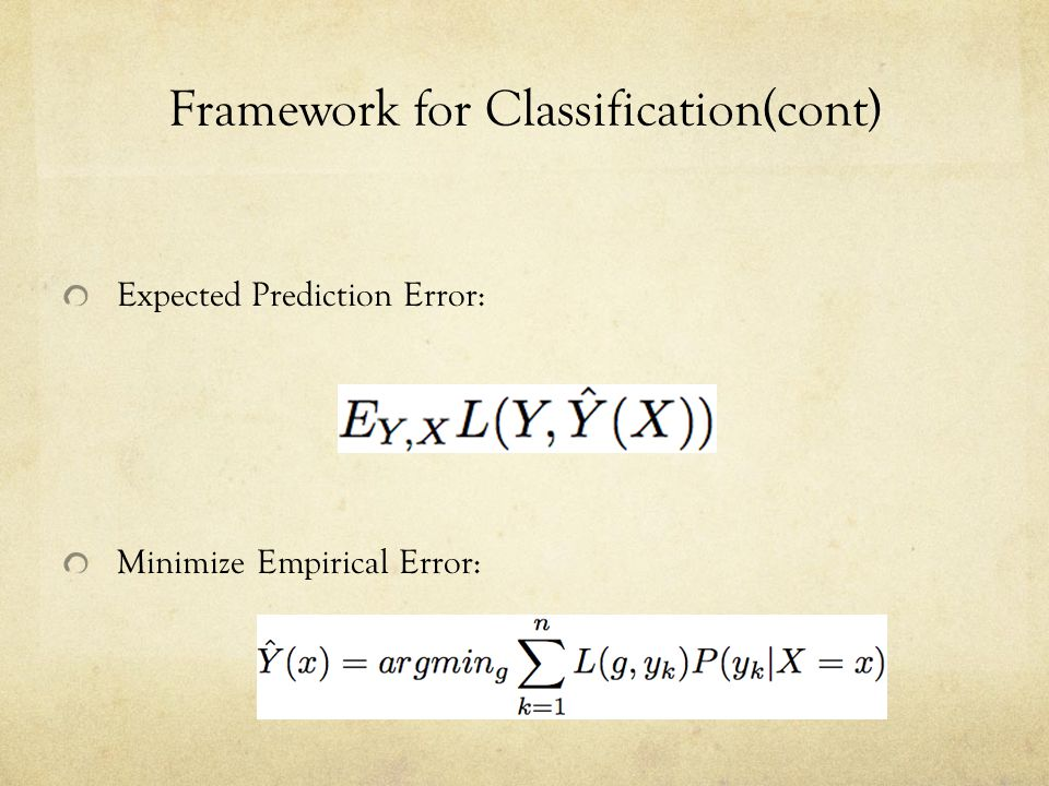 Framework for Classification(cont)