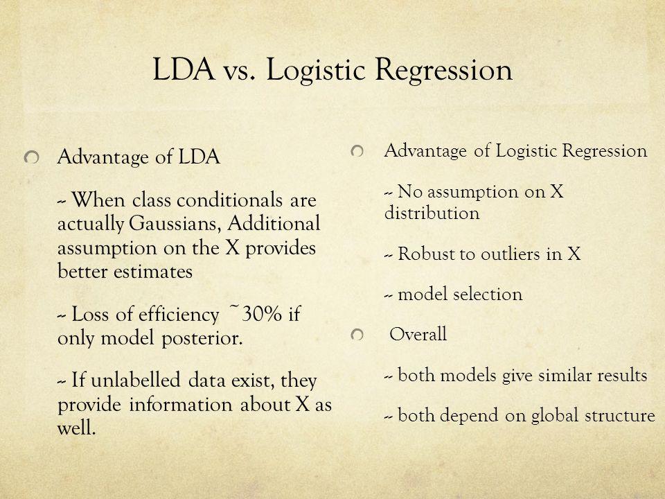 LDA vs. Logistic Regression