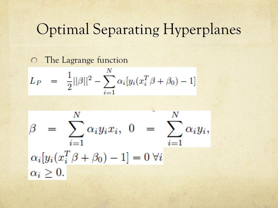 Optimal Separating Hyperplanes