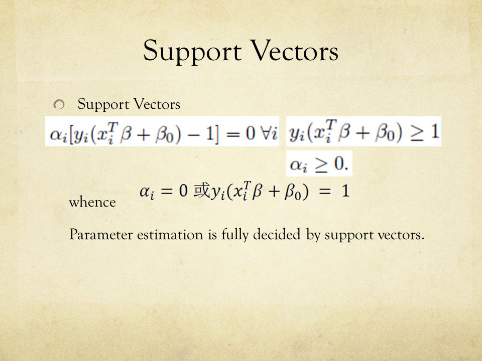 Support Vectors Support Vectors whence