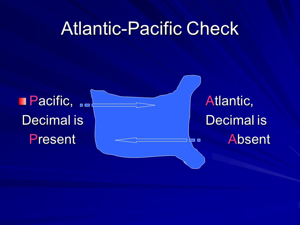 Atlantic-Pacific Check